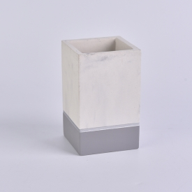 China 10oz Two tone color square concrete candle jars factory