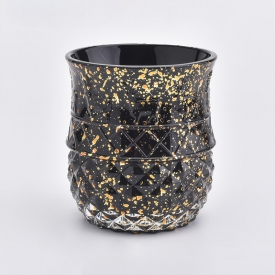 China 10oz black color glass wedding candle holder factory