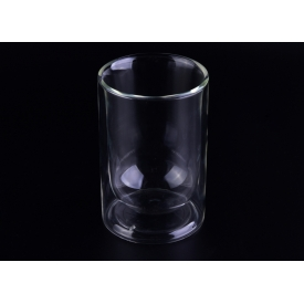 China 10oz straight double wall glass tumbler for water, tea, coffee, beverage factory