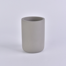 China 10oz warm grey cylinder concrete candle holder wholesale factory