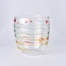 China 12oz colors mixed glass borosilicate cup factory