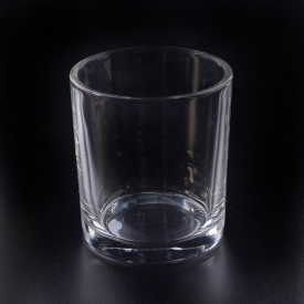 China 12oz filling transparent plain glass candle holder factory