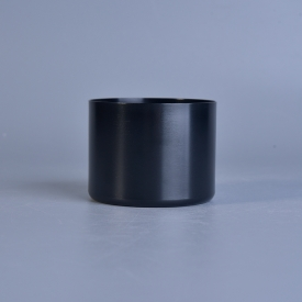 China 142ml Short cylinder black alumium metal tealight candle holders factory