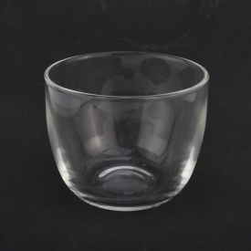 China 14oz handmade clear glass candle bowl factory