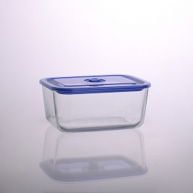 China kilang 1500ml Rectangular Salad Bowl Pyrex Glass Meal Box