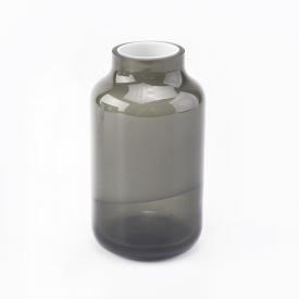 China 150ml Cylinder grey overlay glass diffuser bottles for home decorations factory