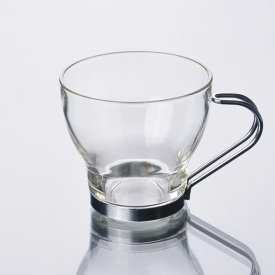 China 190ml coffee cup with Stainless Steel Handle factory