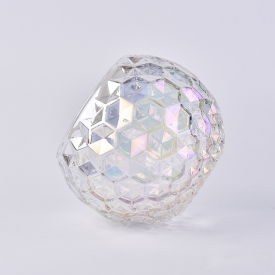 China 24oz Large diamond cut ball glass container for home decoration factory