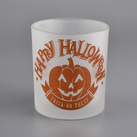 China 280ml Frosted Candle Glass Jar For Halloween factory