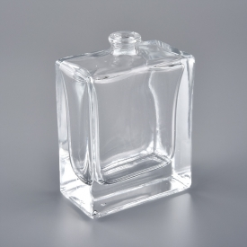 China 2oz square glass perfume bottle for personal care factory