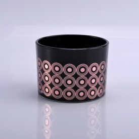 الصين مصنع 3 wick black glass candle holders