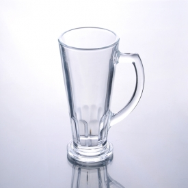 China 300mL High Quality Bear Glass Beverage Glass with Handle factory