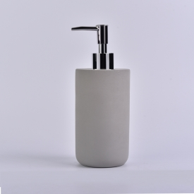 China 300ml retro lotion glass bottle with concrete factory