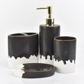 China 4 piece bathroom accessory sets ceramic factory