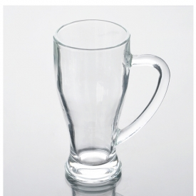 China 420mL Good Quality Bear Glass Drinking Glass with Handle factory