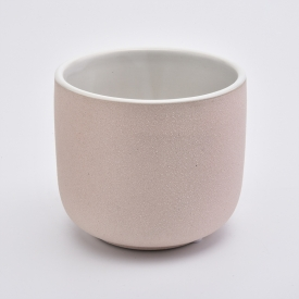China 425ml Pink Candle Ceramic Jars factory