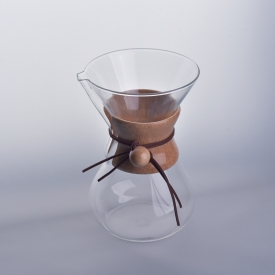 China 6-Cup Pour-Over Glass Coffee Maker factory