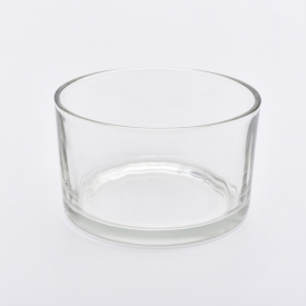 La fábrica de China 6oz wide glass container candle holders