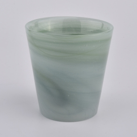 China 7oz green color melted glass candle holders factory