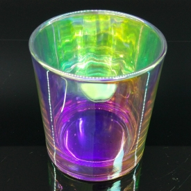 China 8 oz iridescent glass candle vessel factory