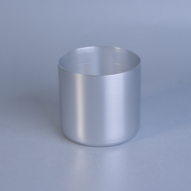 China Aluminum Silver Metal Candle Container factory
