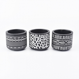 China Black Cement Candle Jars Wholesale factory