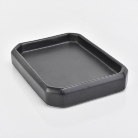 China Black ceramic bathroom accessory soap dish factory