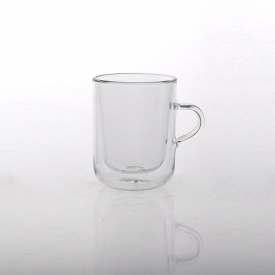 China Borosilicate Drinking Glass Food Grade Double Wall Cup factory