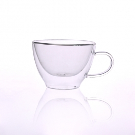 China Borosilicate double wall coffee cup fábrica