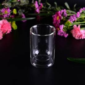 China Borosilicate double wall glass tea cup drinking glass factory