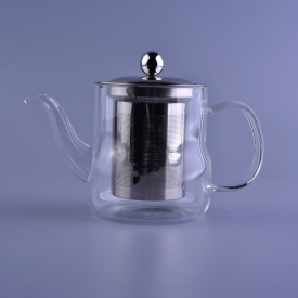 China Borosilicate glass tea pot wholesale coffee kettle factory
