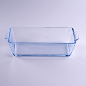 China Borosilicate large square glass plate for food factory