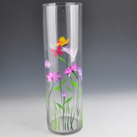 China Centerpiece Clear  glass vase factory