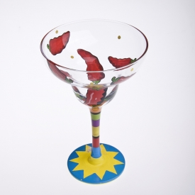 China Chili goblet glass wine glass cup factory