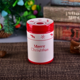 China Christmas Celebration Ceramic Storage Jar factory