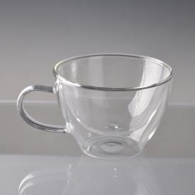 China Clear Borosilicated Glass Hot Drinks Cups factory
