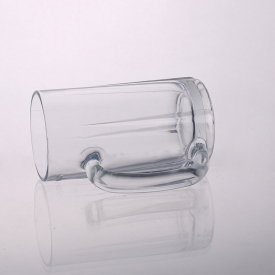 China Clear Glass Beer Mug With Handle Wholesaler from China factory