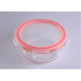 China Clear Sealed Round Salad Storage Meal Box Glass Bowl factory