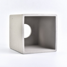 China Concrete bathroom storage rack cuboid cement toothbrush holder factory
