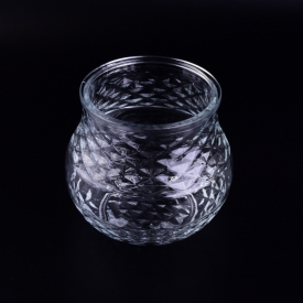 China Crystal huge glass cookie jars without handle factory