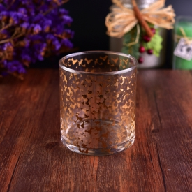 China Custom Gold and Silver Decal Printing Candle Glass factory