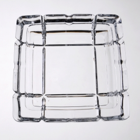 China Durable Clear Cigarette Glass Ashtray Wholesale Supplier factory