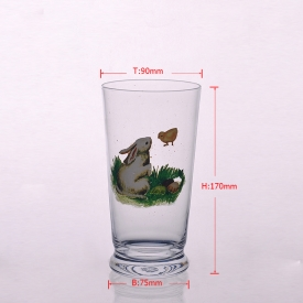 China Decal machine blown glass tumbler water cup factory