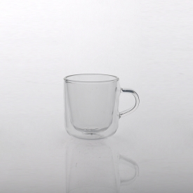 China Double wall glass cup for coffee tea factory