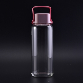 China Easy carry convenient traveling glass bottles with hanging cap factory