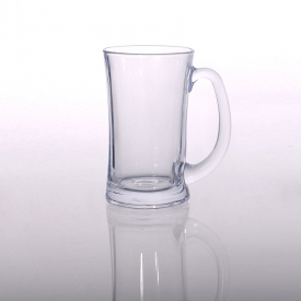 中国Factory price waist beer mug, wholesale promotional beer glass tumbler, glass beer mug for bar工厂