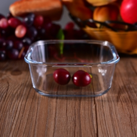 China Food safety squoare glass bowl microwave safe wholesale factory