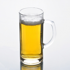 China Glass cup with handle for beer fábrica