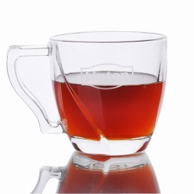 China Glass tea cup with handle factory
