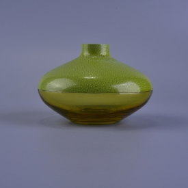 China Green round olive glass oil bottle 250 ml factory